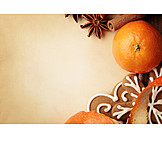 Copy space, Christmas cookies, Advent season