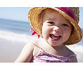 Kleinkind, Mädchen, Sommer, Urlaub