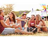 Sommer, Festival, Picknick, Freunde