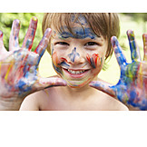 Fun & Happiness, Finger Painting