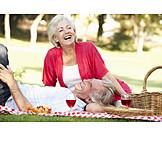 Sommer, Verliebt, Picknick, Seniorenpaar
