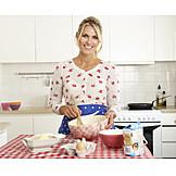 Woman, Preparation, Dough