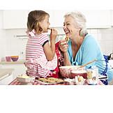 Grandmother, Sweets, Cookies, Grandchild