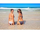 Young Woman, Bikini, Beach Holiday