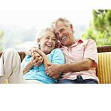 Umarmen, Verliebt, Seniorenpaar
