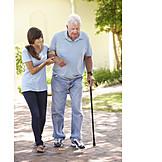 Großvater, Senior, Pflege & Fürsorge, Altenpflegerin
