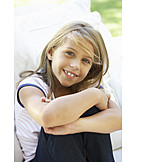 Mädchen, Lächeln, Sorglos & Entspannt