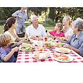 Familie, Grillabend, Gartenparty