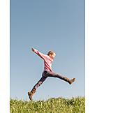 Girl, Jump, Vitality, Freedom