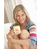 Woman, Enjoyment & Relaxation, Hot Drink