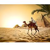 Holiday & Travel, Egypt, Pyramid Shape, Bedouin