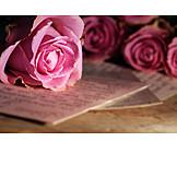 Love letter, Letters, Rose bouquet