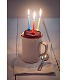 Birthday, Birthday Cake, Mug Cake