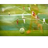 Soccer, Motion, Multiple exposure