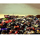 Environmental Damage, Metal, Recycling, Resources, Car Wreck, Scrapyard