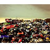 Environmental Damage, Metal, Recycling, Resources, Car Wreck, Scrapyard