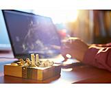 Laptop, Smoking, Smoking Issues, Stress & Struggle