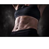 Sportswoman, Muscle, Abdominal muscle