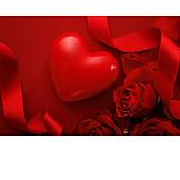 Heart, Valentine, Roses