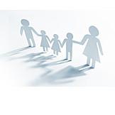 Zusammenhalt, Familie, Papierschnitt