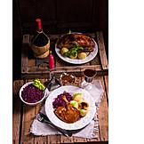 Christmas dinner, Duck meat, Duck leg