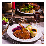 Feast, Christmas dinner, Duck meat