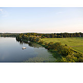 Lake, Aerial View, Brandenburg