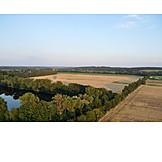 Sommer, Luftaufnahme, Brandenburg