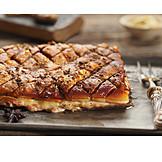 Crispy, Roast Pork, Meat