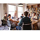 Besprechung & Unterhaltung, Meeting, Brainstorming