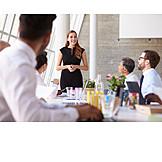 Job & Profession, Businesswoman, Team Leader