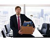 Businessman, Office, Transport, Cancelation