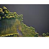 Luftaufnahme, Fluss, Ufer