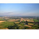 Luftaufnahme, Felder, Brandenburg