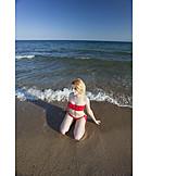 Woman, Beach, Bikini