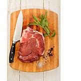 Meat, Steak, Raw