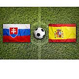 Soccer, Spain, Slovakia, Em