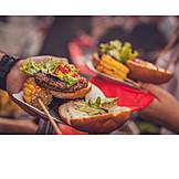 Hamburger, Amerikanische Küche, Barbecue