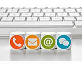 Contact, Online