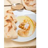 Fladenbrot, Arabische Küche, Hummus