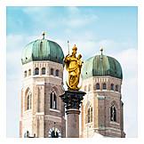 Frauenkirche, Munich, Marie Pillar