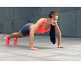 Sports & fitness, Sportswoman, Workout, Push ups