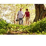 Walk, Picnic, Older Couple