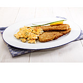 Herring, Fish Dish, Scrambled Eggs, Dish