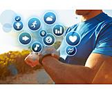 Medien, Sportler, Icon, App