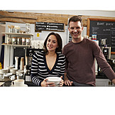 Cafe, Bistro, Businessman