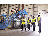 Logistics, Team, Recycling Plant, Conveyor Belt