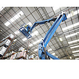 Man, Logistics, Crane, Warehouse, Storage Rack
