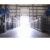 Logistik, Lagerhalle, Recyclinganlage