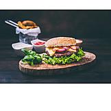 Fastfood, Imbiss, Cheeseburger, Amerikanische Küche